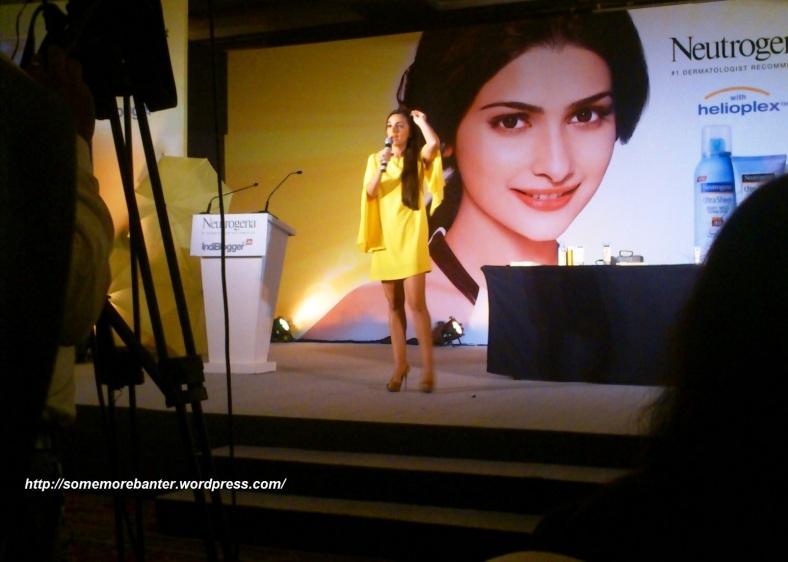 Tara Sharma sharing her beauty tips